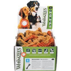 Whimzees Toothbrush Dental Dog Treats in POP Display Box