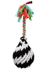 Super Scooch Squeak Rope Ball