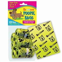 Scoochie Poopie 6 Roll Pack of Poop Bags