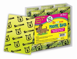 Scoochie Poopie 25 Roll Super Value Pack of Poop Bags