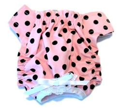 Pink & Black Polka Dot Panties