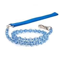 Fabuleash Beaded Dog Leash - LumiBead Leash - Sapphire