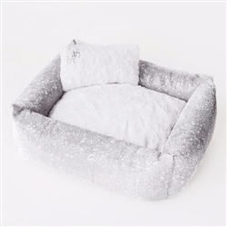 Imperial Crystal Dog Bed: Clear Crystal