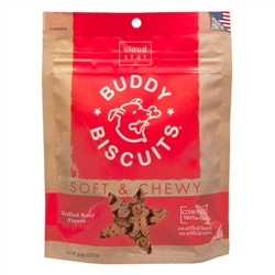 Grilled Beef Soft & Chewy Buddy Biscuits - 6oz.