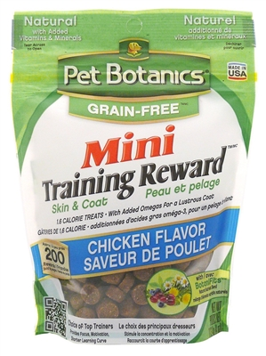 Pet Botanics Mini Training Rewards Grain-Free Treats for Dogs - 4 oz. - Three flavors