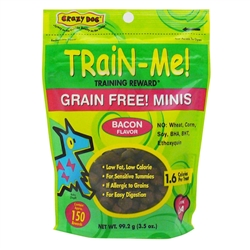 Crazy Dog Grain Free Mini Train-Me! Treats for Dogs - 3.5 oz.