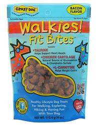 Crazy Dog Walkies! Fit Bites Treats for Dogs - 4 oz.