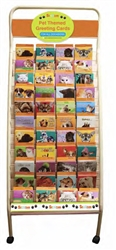 Pet Themed Greeting Card Rack: 264 Card Rolling Display