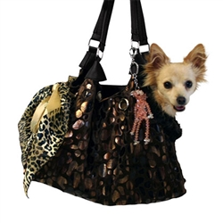 RunAround Tote Black w/ Animal Foil