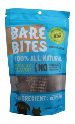 3 oz. Bare Bites Beef Liver Pouch Case of 24