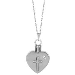 Heart Cross Keepsake Pendant