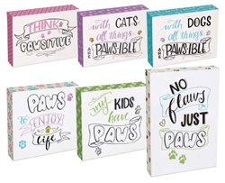 Pawsitive Wall Plaque 12 Piece Assortment