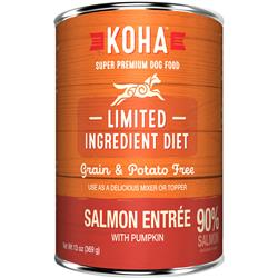 KOHA 90% Salmon with Fresh Pumpkin - 13oz Cans - Limited Ingredient Diet (Supplemental Feeding Only)