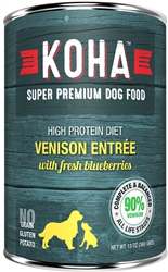 KOHA 90% Venison with Fresh Blueberries - 13oz Cans