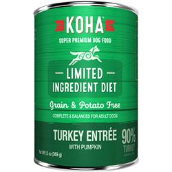 KOHA 90% Turkey with Fresh Pumpkin - 13oz Cans - Limited Ingredient Diet