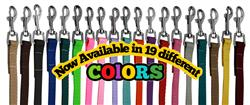 Plain Colored Nylon Leashes