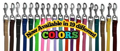 Plain Colored Nylon Leashes