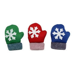 Multipet Holiday Catnip Mittens (Assorted Colors) 3.5""