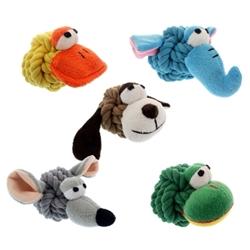 """Multipet Rope Head Animals Assortment 4"""""""