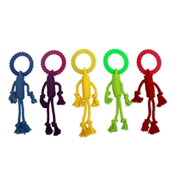 Multipet Nuts for Knots Rope Man w/ TPR Head (Assorted Colors) 12""