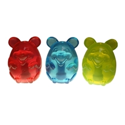 Multipet Doglucent TPR Mouse (Assorted Colors) 4""
