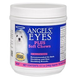 Angels' Eyes Plus for Dogs - 120 Ct - Beef Formula, Soft Chews