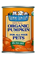 Nummy Tum-Tum Pure Organic Pumpkin Canned Dog & Cat Food Supplement 15-oz (Case of 12)