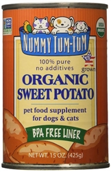 Nummy Tum-Tum Pure Organic Sweet Potato Canned Dog & Cat Food Supplement 15-oz (Case of 12)