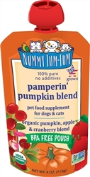 Nummy Tum Tum Organic Pamperin' Pumpkin Blend Dog & Cat Food Supplement 4oz (Case of 12)