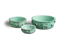 Dog Food & Water Bowls - Aqua/Green