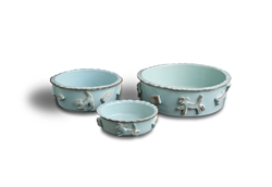 Dog Food & Water Bowls - Baby Blue