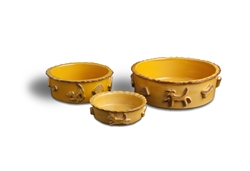 Dog Food & Water Bowls - Caramel