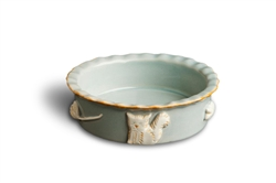 Cat Food & Water Bowl - French Grey