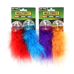 Lattice Ball with Feather 2 Pack
