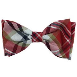 Red Madras Bow Tie by Huxley & Kent