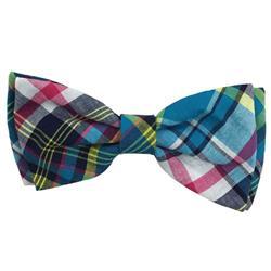 Blue Madras Bow Tie by Huxley & Kent