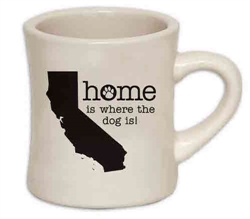 Home Is Where The Dog Is (CA) - 10oz Diner Mug