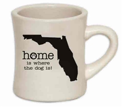 Home Is Where The Dog Is (FL) - 10oz Diner Mug