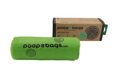 Biobased Single Bulk Roll of 300 Poop Bags (12 Units Per Case)