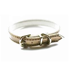 Ashley Vegan Dog Collar - Piuma Snake Gold