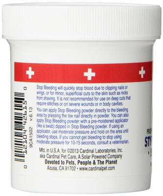 Remedy + Recovery Professional Groomer's Styptic Powder for Pets, 1.5 oz.