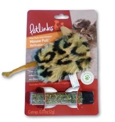 Petlinks Mouse Full Refillable w/Catnip Tube