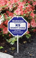 "Silly Security Sign - K9 Security System 8"" x 8"""