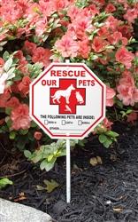 "Pet Rescue Garden Sign Style 1 - 8"" x 8"""