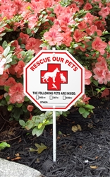 "Pet Rescue Garden Sign Style 2 - 8"" x 8"""