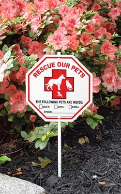 "Pet Rescue Garden Sign Style 2 - 8"" x 8"""