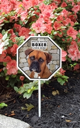 "Spoiled Rotten Boxer Lives Here Garden Sign 8"" x 8"""