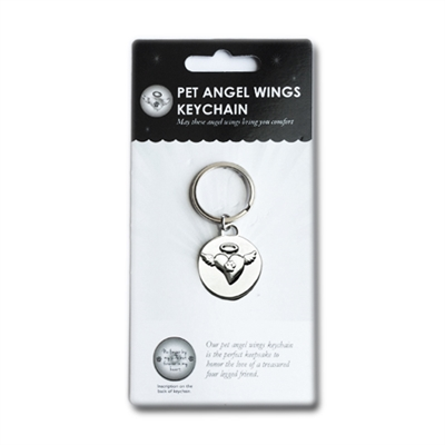 In Loving Memory Angel Wings Keychain