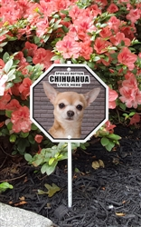 "Spoiled Rotten Chihuahua Lives Here Garden Sign 8"" x 8"""