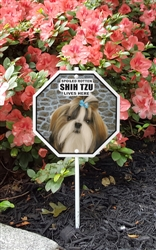 "Spoiled Rotten Shih Tzu Lives Here Garden Sign 8"" x 8"""